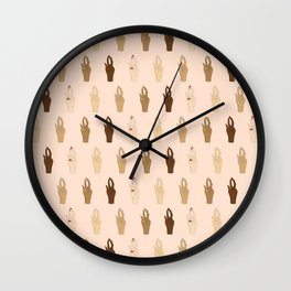 Lit Clits Wall Clock
