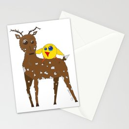 Diego the Deer and Yellow Bird Stationery Cards