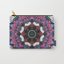 Orchids And Stone Wall Kaleidoscope 1763 Carry-All Pouch
