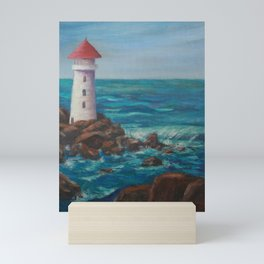 The Lighthouse Rocks AC151208c-12 Mini Art Print