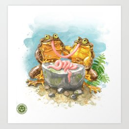 Romeo and Juliet on a date Art Print