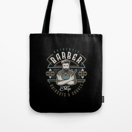 Authentic Barber Shop Tote Bag