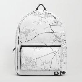 Minimal City Maps - Map Of Brest, Belarus. Backpack