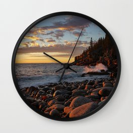 Sunrise at Otter Cliff III Wall Clock