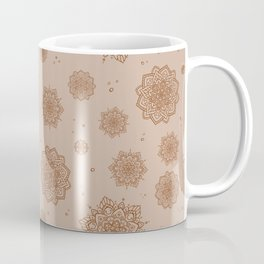 Feathered Mandala Pattern - Coffee Coffee Mug