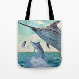 Catch a Marlin if You Can Tote Bag