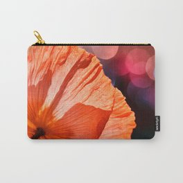 Catch the Light & Throw it Back - orange poppy macro with bokeh Carry-All Pouch