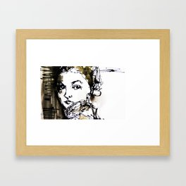 look back Framed Art Print