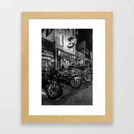 Bikes on Beale Memphis Framed Art Print
