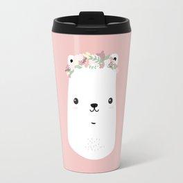 Flower bear Travel Mug