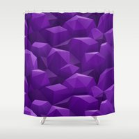 geode Shower Curtains featuring Geode by Screen Candy
