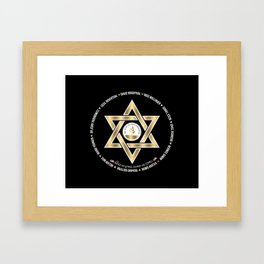 In Loving Memory Victim Names Tree Of Life Or L'Simcha Congregation Keep Sake (Black) Framed Art Print