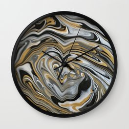 Melting Metals Wall Clock