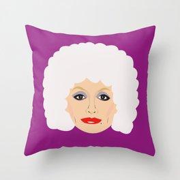 Dolly Parton - cartoon style portrait Throw Pillow