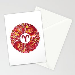 Aries in Petrykivka Style (without artist's signature/date) Stationery Cards