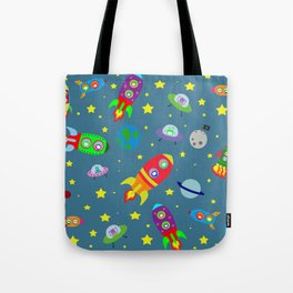 Rockets to the moon Tote Bag