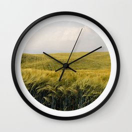 Oblò: Wheat field Wall Clock