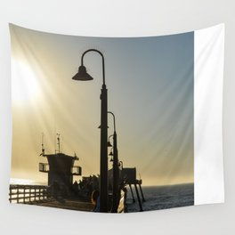 San Diego Pier  Wall Tapestry