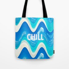 CHILL BEACH WAVE Tote Bag