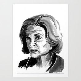 Lucille Bluth Art Print