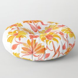 Sunflower Watercolor – Fiery Palette Floor Pillow
