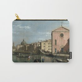 Venice, The Grand Canal facing Santa Croce by Follower of Canaletto Carry-All Pouch