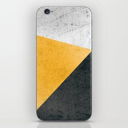 Modern Yellow & Black Geometric iPhone Skin
