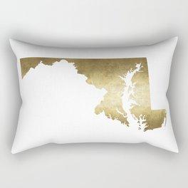 maryland gold foil state map Rectangular Pillow