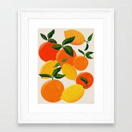 Oranges and Lemons Framed Art Print