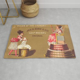 Vintage Poster - Queen of the Laundry Rug
