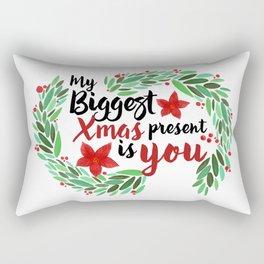 Merry Christmas Xmas Eve Holiday Season Santa Claus Navidad Regalo Present Gift Loved One Rectangular Pillow