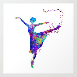 Dance First, Think Later Art Print