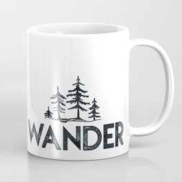 WANDER Forest Trees Black and White Coffee Mug