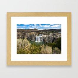 Waterfall Photography - Shoshone Falls Idaho Framed Art Print
