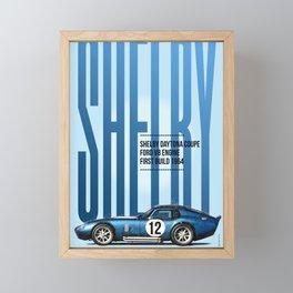 Shelby Daytona Coupe Tribute Framed Mini Art Print