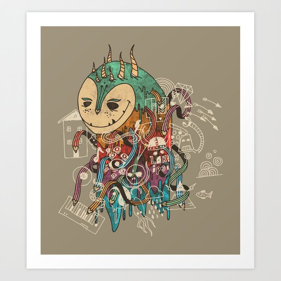 The Doodler Art Print