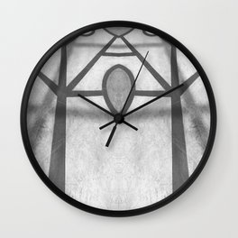 Lines on the Ground Wall Clock