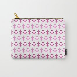 Watercolor Pink Pixel Trees Carry-All Pouch