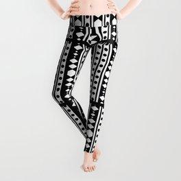White tribal pattern Leggings