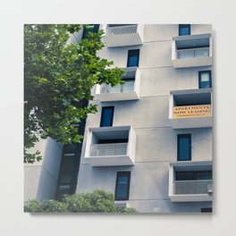 Apartments Now Leasing Metal Print