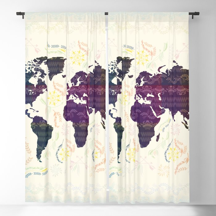 Map Blackout Curtain