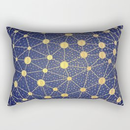 Cryptocurrency mining network Rectangular Pillow