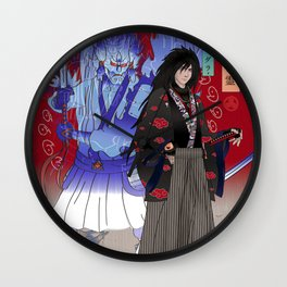 Madara Uchiha Ukiyo-e Wall Clock
