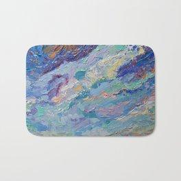 Summer Clouds - impressionism abstract summer nature landscape by Adriana Dziuba Bath Mat