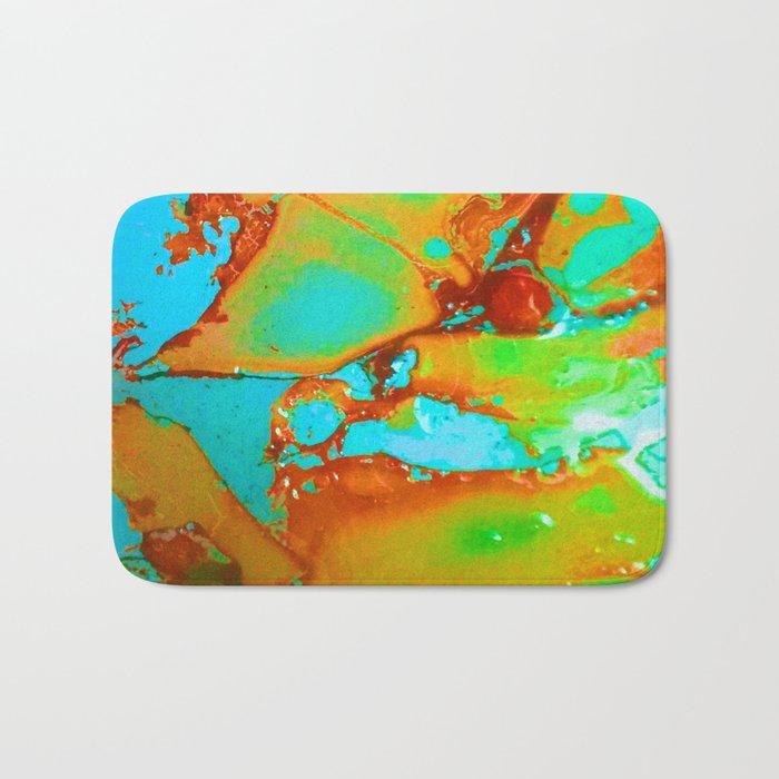 Orange to Blue Medley Bath Mat