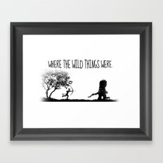 Where the wild things were. Framed Art Print