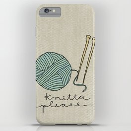 Knitta Please iPhone Case