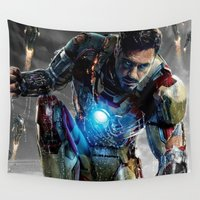 ironman Wall Tapestries featuring IRONMAN 3  by Fernando P.