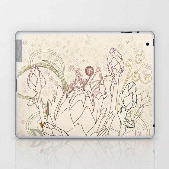 Peach and purple  artichoke Laptop & iPad Skin
