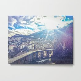 Beautiful view in the medieval village of Pescocostanzo Metal Print